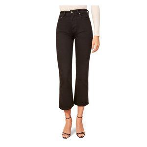 NWT Reformation Black Jeans Jordi Ankle Flare NWT